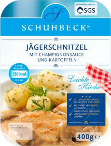 Jägerschnitzel mit Champignonsauce und Kartoffeln