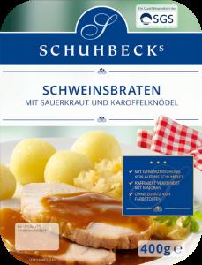 Schweinsbraten mit Sauerkraut und Kartoffelknödel